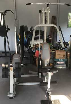 Infiniti 2000 delux Multi Station home gym Can help with disassemble for transport  Easy to reassemb...