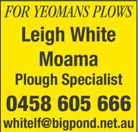 FOR YEOMANS PLOWS      Leigh...