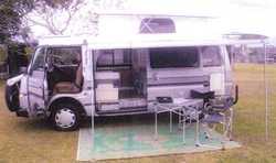 Auto Camper Van – Nissan Urvan – 2lt 1986 Pop Top   A/c, solar panel – deep...