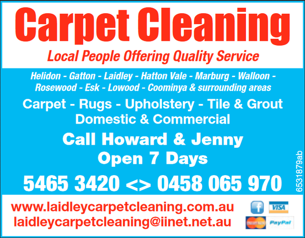 Carpet Cleaning - Local People Offering Quality Service  