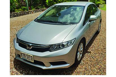 <p> HONDA CIVIC VTIL Sedan </p> <p> 2012, auto, rev cam, A/C, new battery & 4 tyres, June 19...</p>