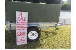 As New - 2017 6 x 4 Trailers 2000 Trailer, Jockey wheel, New spare tyre & wheel, 900mm high s...
