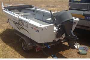 <p> Quintrex 4.7 Top Ender 60HP, 4 stroke Yamaha, all safety gear, Hummingbird sounder GPS, rego...