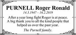 PURNELL Roger Ronald