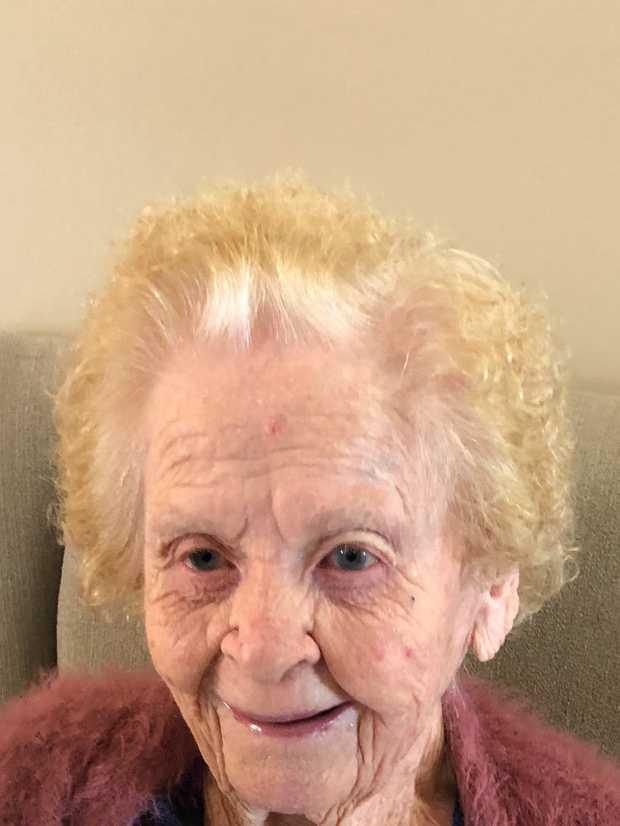 Happy 100th birthday Mum. Love Alastair & Catherine. Angela, Cameron, Isabella & Austin. Tanya, Craig...