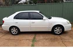 HYUNDAI Accent, 2005,  hatch,  low kms,  a/c,  white,  auto,  p...