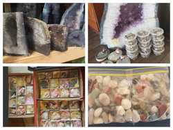 Clearing out market stock Heaps of Crystals, jewellery Clothes, Craft supplies Bric-a-brac, house ho...