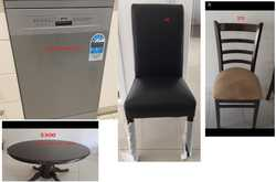 Items for sale: - 2 dinner tables excellent condition - $300 ea - matching steady chairs - near new...