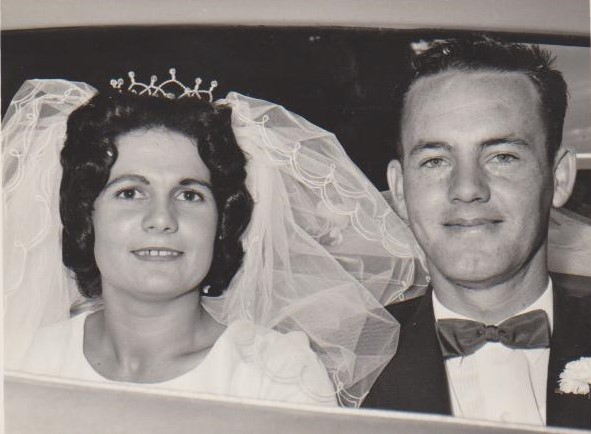Happy 55th Wedding Anniversary   Fred & Kay Hall   21st March 1964.   Love from...