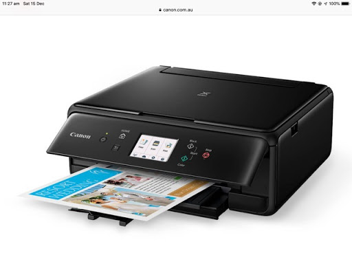 Canon Pixma TS 5160 Ali in one printer, Scanner, copier.  WiFi, Bluetooth, USB Connections.  Front and...