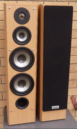 Beautiful Sound   -160mm cone woofer x 2  -100mm midrange x 1  -25mm semi-hard dome...