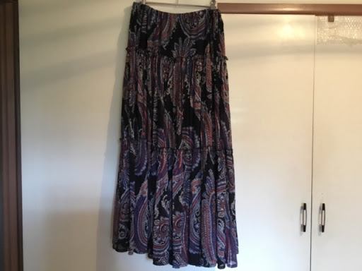 Katies Long, Tiered, Gypsy Skirt.