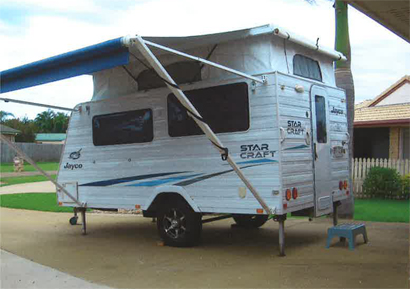 pop top 2011 Exc Con, six months rego, RWC, gas Cert, high clearance, rear entry, new awning...