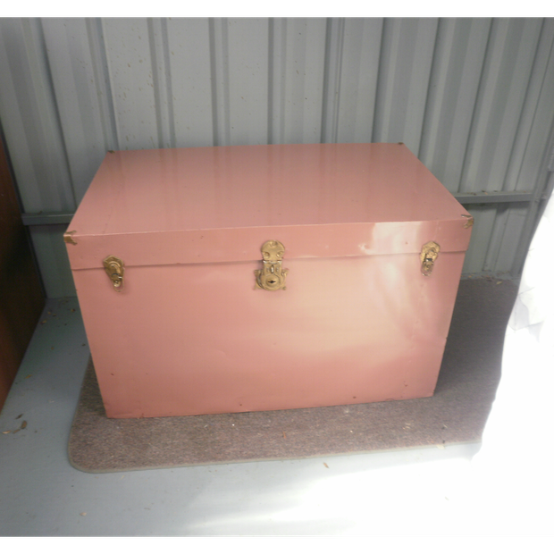 Large metal/wood trunk for sale