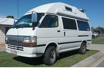TOYOTA HIGH ACE Campervan, fully imported, 1996, auto, 4 x 4 turbo diesel, solar, new back annex...