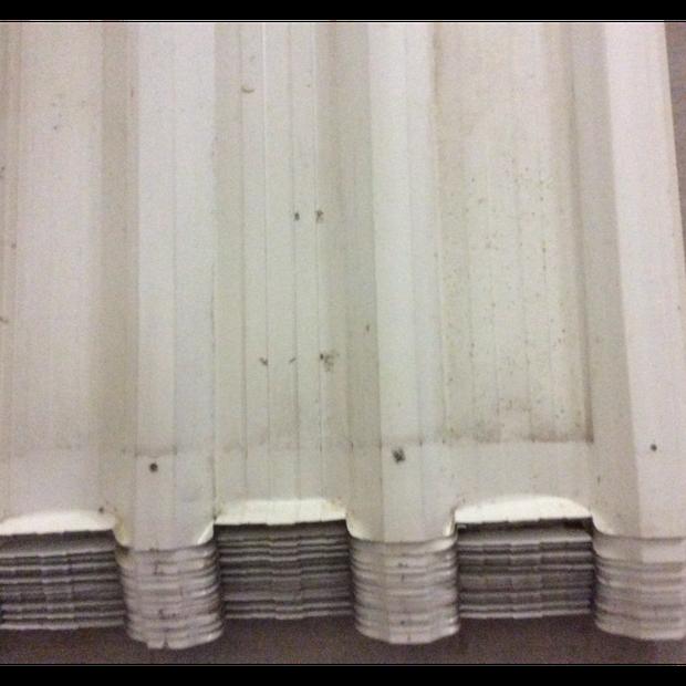 Prodek Roofing Sheets 1 degree pitch. Colorbond Surfmist colour 13 Sheets 3900 long, 2...