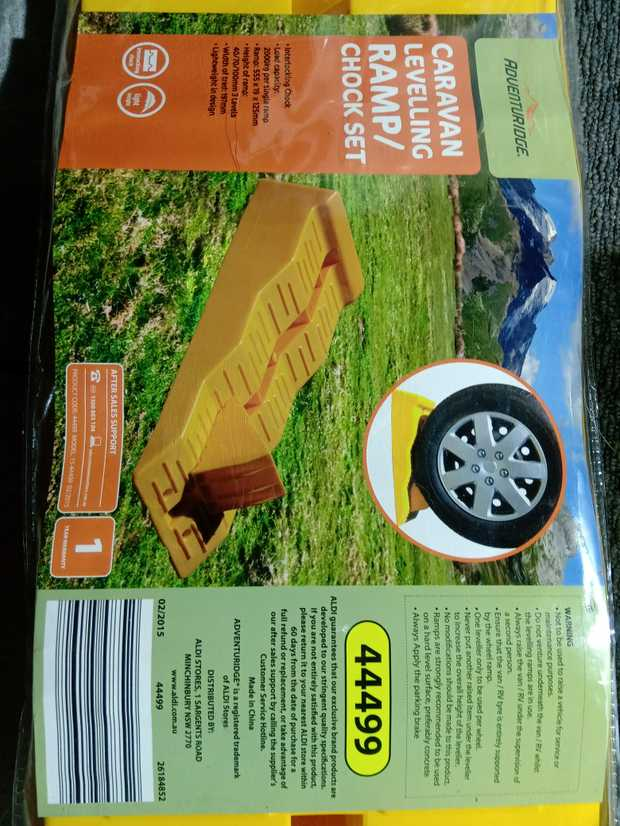 Caravan ramps with back block, still brand new. Never used