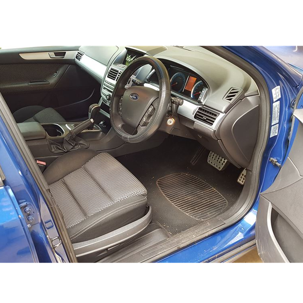 2008 Blue Ford Falcon sedan XR8. Automatic. Registered. Very low KMs - 64,000. Paint needs repairs.