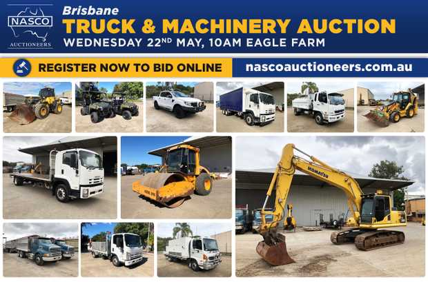 BRISBANE TRUCK & MACHINERY AUCTION WEDNESDAY 22nd MAY @ 10AM