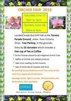 SA REGIONAL ORCHID FAIR - Saturday June 15 & Sunday June 16