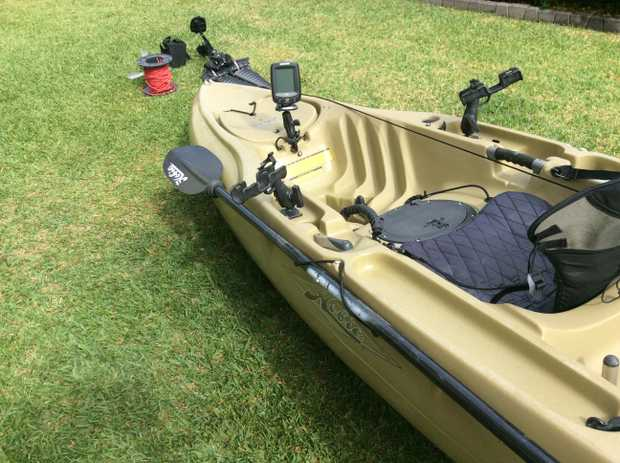 Excellent condition Rod holders,wheels,anchor and rope Black and white depth sounder Kayak strong arm...