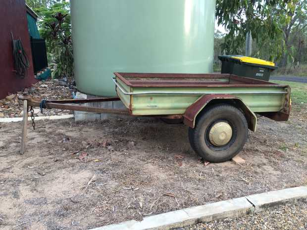 6 x 4 box trailer some surface rust but strong and reliable. 7 months rego. Jockey wheel included