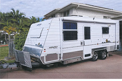"HORIZON 2011 19'6"" QB, ensuite, W/M, 3w fridge 180L, m'wave, solar 160w, 2kw Honda..."