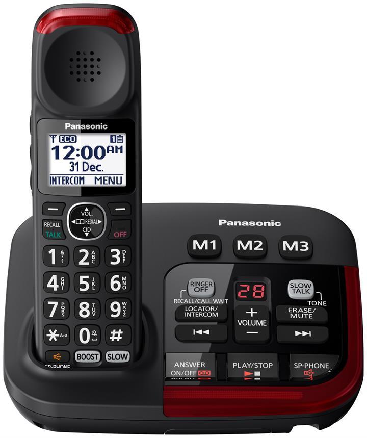 Panasonic - Amplified Cordless Telephone - KX-TGM420AZB | Phones