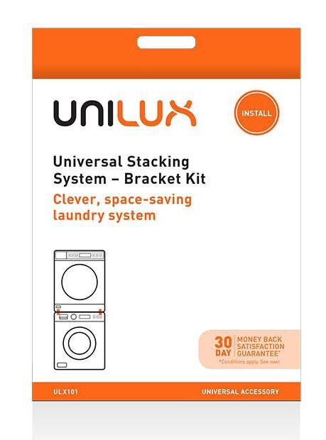 Universal accessory Clever, space saving laundry system Secures front load washer & vented clothes...