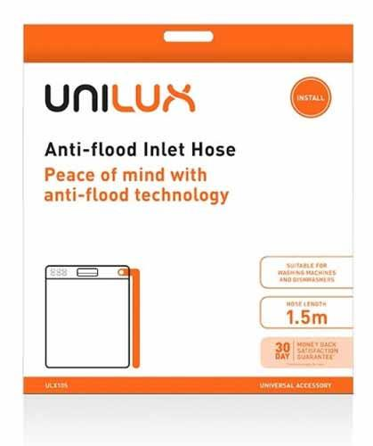 Universal accessory Anti-flood technology Suitable for dishwashers & front load washers 1.5m hose...