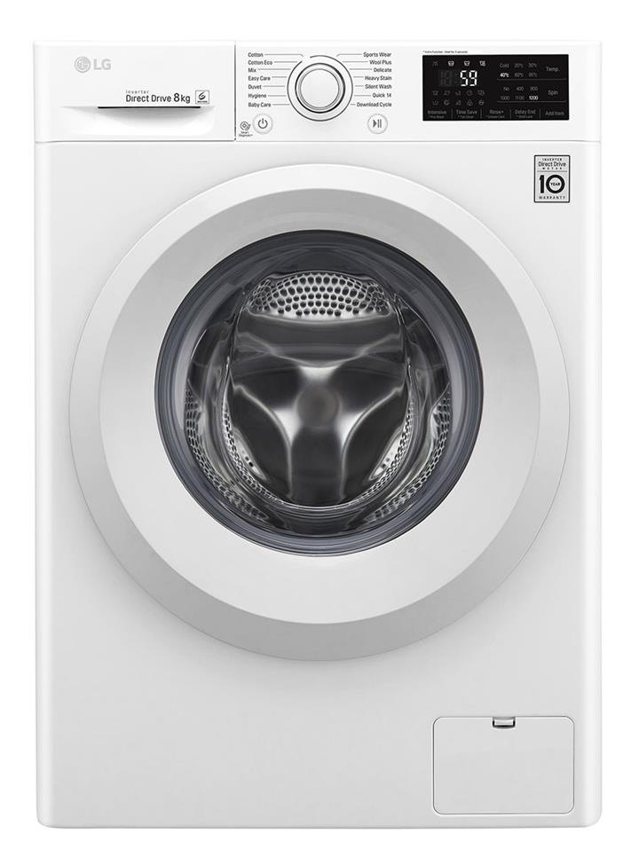 LG - WD1208TC4W - 8kg Front Load Washer | White Goods | | Herald Sun