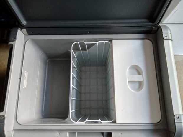 Large 60L Waeco fridge / freezer, it comes with cigarette point lead and power point lead, very good...