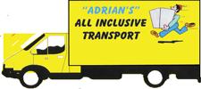ADRIAN'S ALL INCLUSIVE TRANSPORT     20/40 cubic mtre Pantecs.  Small & med.