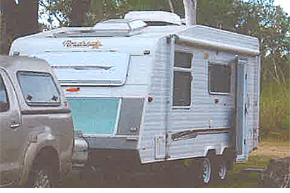 19'6 A/C, solar 3 way fridge, shower, toilet, hotwater, includes large range of accessories.