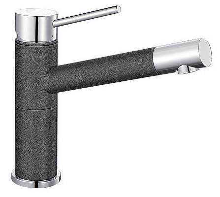 360° swivel body 360° swivel spout end High clearance outlet SILGRANIT™ and chrome dual finish...