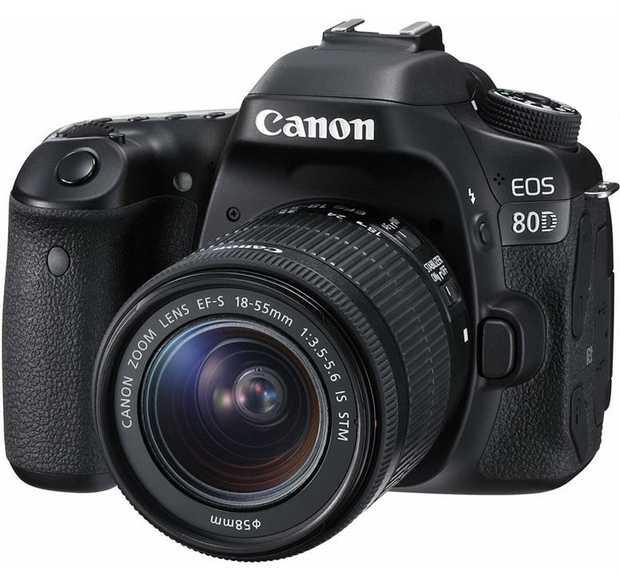 EOS 80D camera body EF-S 18-55mm f/3.5-5.6 IS STM lens 24.2 megapixels 45 point AF Up to 7fps...