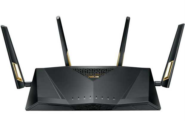 Next-Gen WiFi Standard 6000Mbps WiFi Speed 4 antennas + 8 LAN ports AiProtection Pro, powered by Trend...