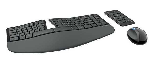 Cushioned palm rest Split keyset design Natural Arc Domed keyboard design Separate Number Pad Advanced...