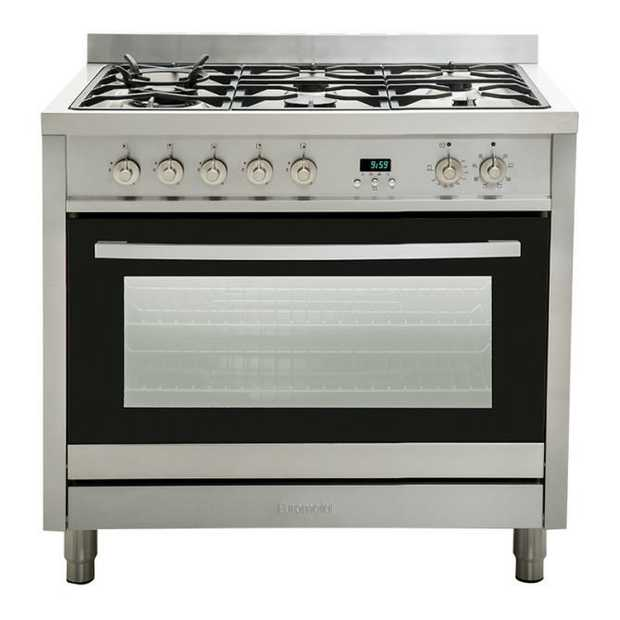 8 Function 115 litre gross capacity Black Italian DEFENDI highly efficient gas burners Flame failure...