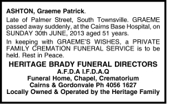 The age funeral notices june 2013