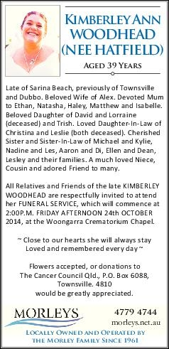 Browsing Funeral Notices   Gold Coast Classifieds   Gold Coast Bulletin