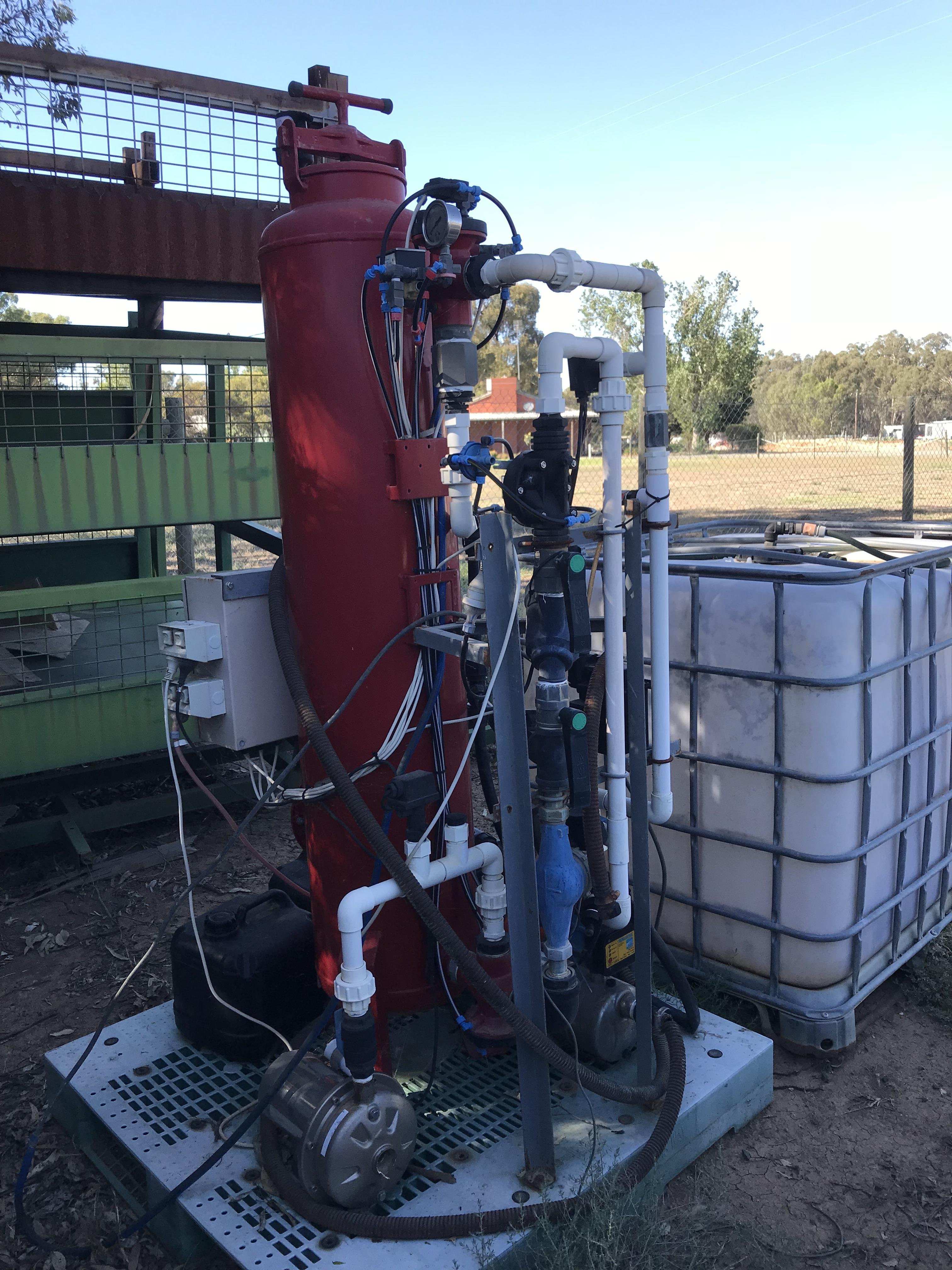 Water Treatment Plant with Tank.