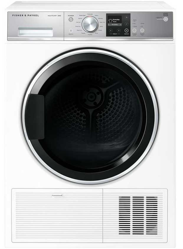 18 fabric care cycles 5 dryness levels Heat Pump Technology Auto-sensing technology SmartTouch™ control...