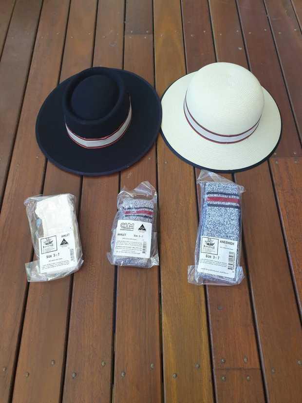 Saturday 17th August. Children's books, novels, new akubra style blue Castle brand hats, new cream...