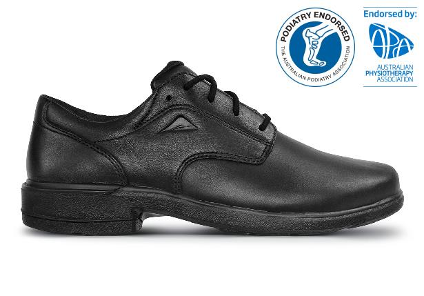 The Ascent Womens Scholar (B) Black is a traditional & highly durable black leather school or work shoe...