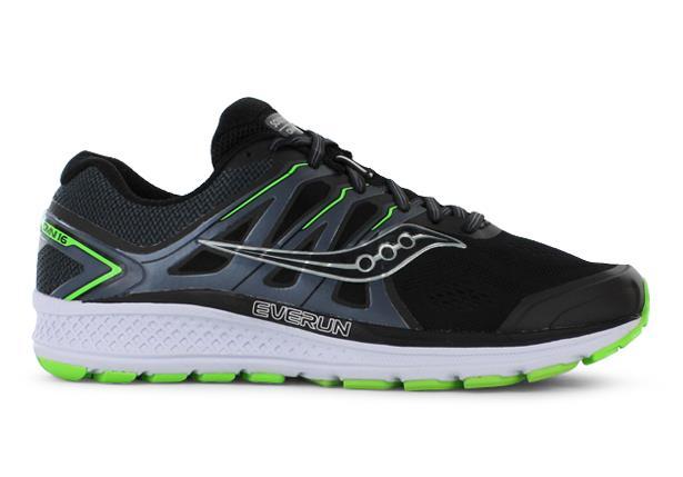 Saucony Omni 16 (2E) Mens Black Slime | Mens Running Shoes