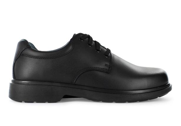 The Clarks Daytona is a traditional & highly durable black leather school shoe from Clarks.