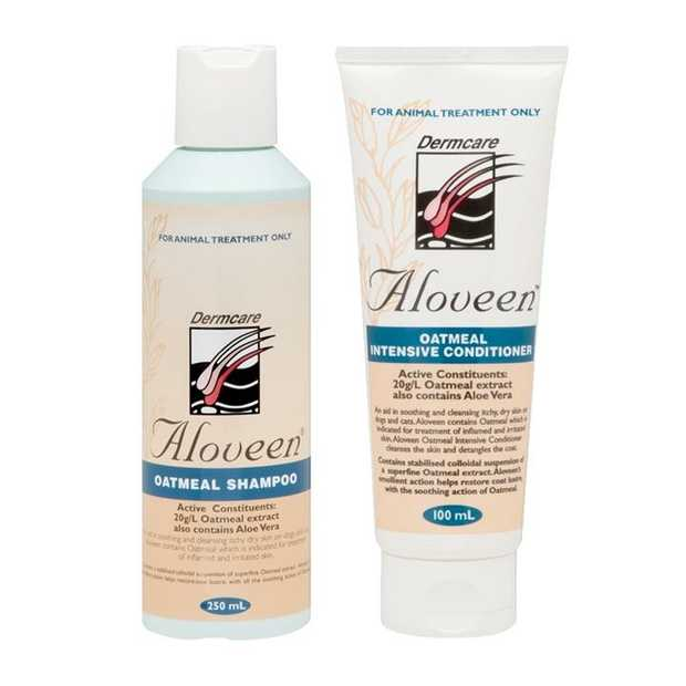 Aloveen Oatmeal Shampoo & Conditioner Pack for Cats & Dogs with Sensitive Skin