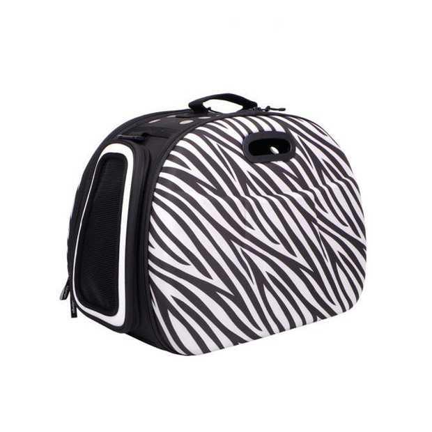 Ibiyaya Hard Case Pet Tote Safari - Zebra