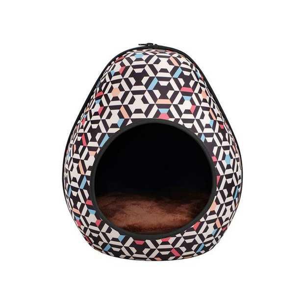 IBIYAYA Gourd Pet House & Enclosed Bed - Honeycomb